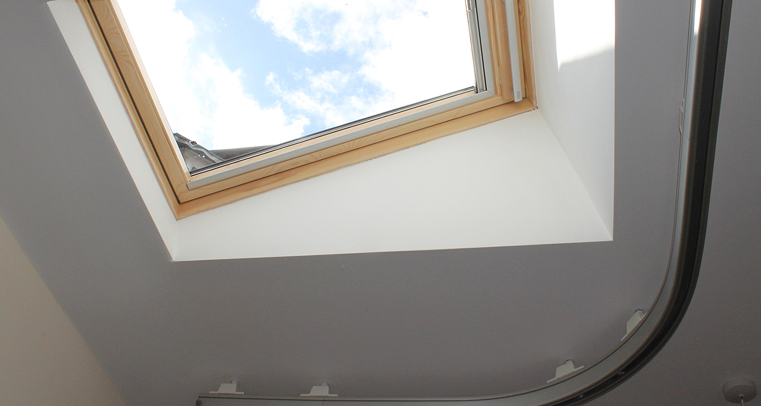 care supported living ceiling with sky light