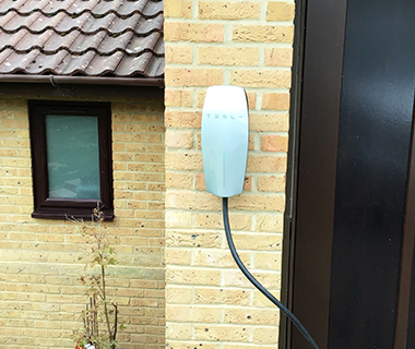 EV wall charge point install
