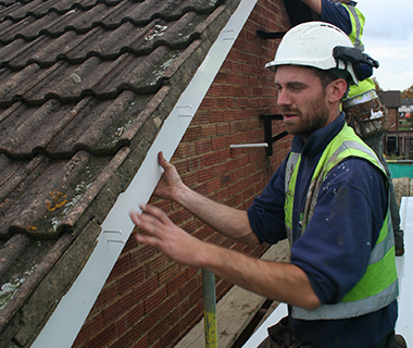 FSG install facias on a social housing project.