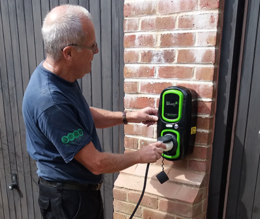 Rolec EV wall charge point installation.
