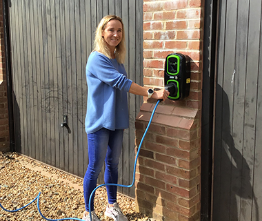Renewable Energy EV Wall Charge Point